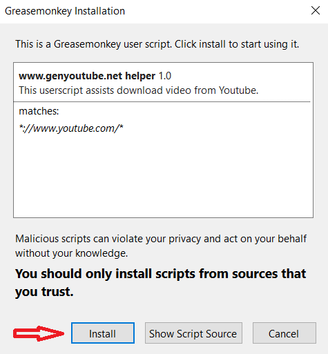How to install extension for firefox to download Youtube videos